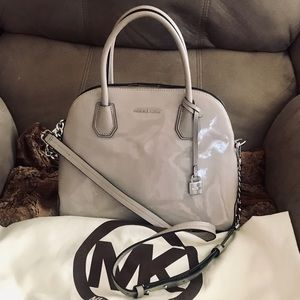 Michael Kors Mercer Large Dome Patent Leather Bag